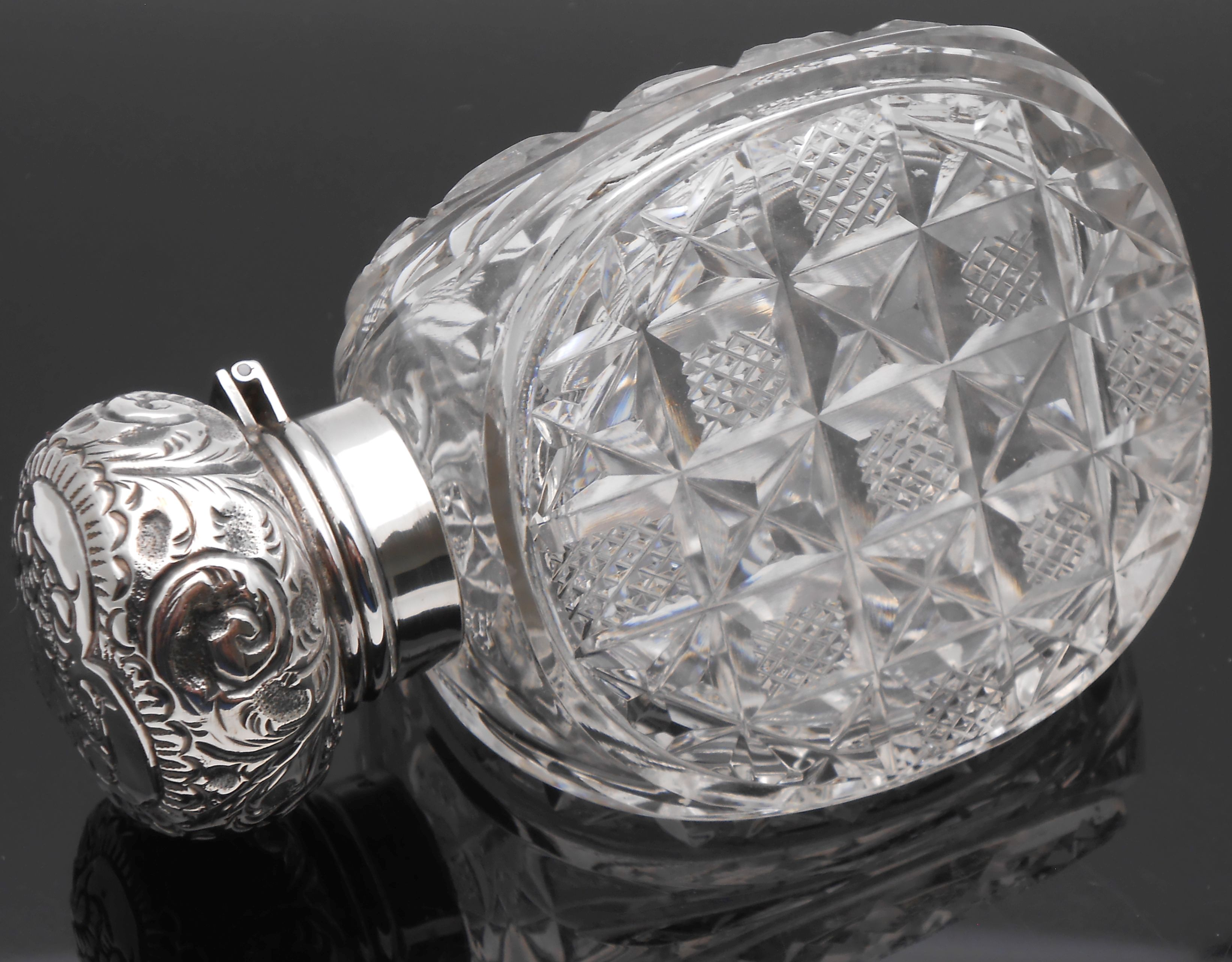UNUSUAL THREE SIDED HOBNAIL STERLING