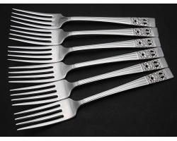 COMMUNITY HAMPTON COURT CORONATION 6X SIDE / DESSERT FORKS - VINTAGE SET (#54953)