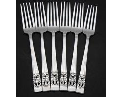 COMMUNITY HAMPTON COURT CORONATION 6X SIDE / DESSERT FORKS SET - VINTAGE (#54955)