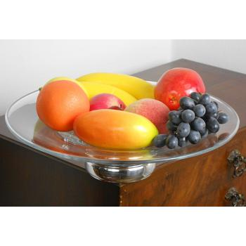 ARTS & CRAFTS TAZZA FRUIT BOWL - PEWTER & OAK - UNITY - BARKER BROS - VINTAGE (#53824) 1